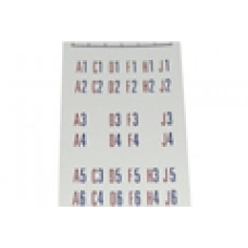 Letters / numbers decal for titlestrip holders 100 selections