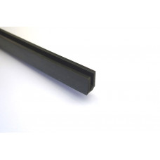 Rubber Channel (Black) by the metre
