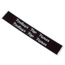 Record Classification Strips (Black) for STATIC Section of Title strip Holders